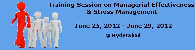 Training Session on Managerial Effectiveness & Stress Management
