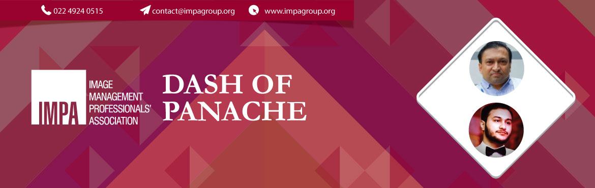 Book Online Tickets for Dash of Panache, Mumbai.  Sunil Frank Pereira He has over 10 years experience in the events industry where he does fashion and glamour events. He not only conceptualises the shows but also styles them. He has worked with brands like Pantaloons, Raymonds, Wills Lifestyle, Wor