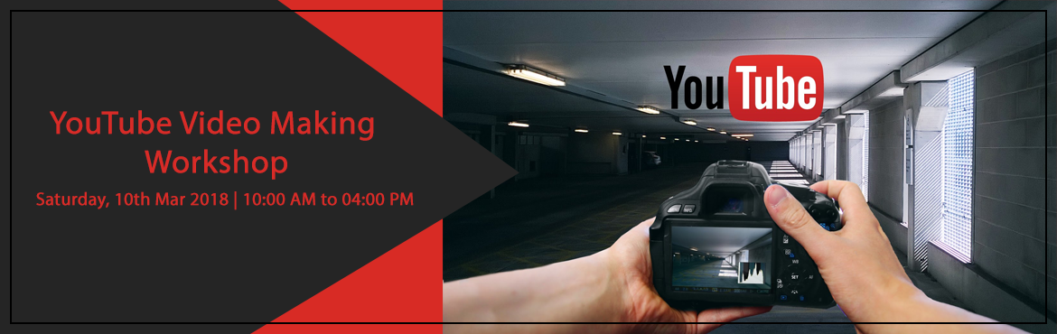 Book Online Tickets for YouTube Video Making Workshop, Hyderabad. This is a full day workshop designed for people who aspire to become YouTube content creators / YouTubers!Topics covered :Influence of Internet and YouTubeAdvantages of video ContentSuccessful stories on YouTube platform Equipment and Techniques