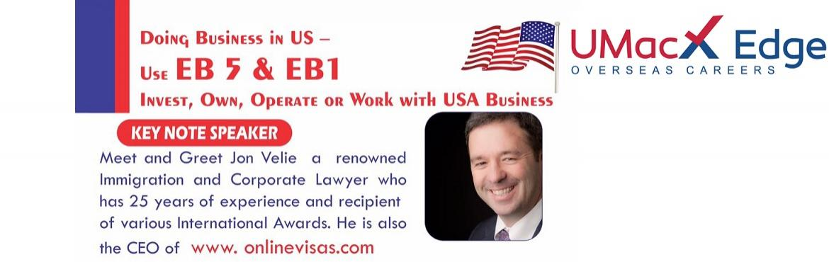 Book Online Tickets for Get Green Card for US with EB5 Visa by J, Hyderabad.  EB-5 Immigrant Investor Program by World Renowned Immigration Expert & CEO of Onlinevisas.com The EB-5 visa provides indian nationals an opportunity to obtain a U.S. green card in return for making a job-creating investment within the Unite
