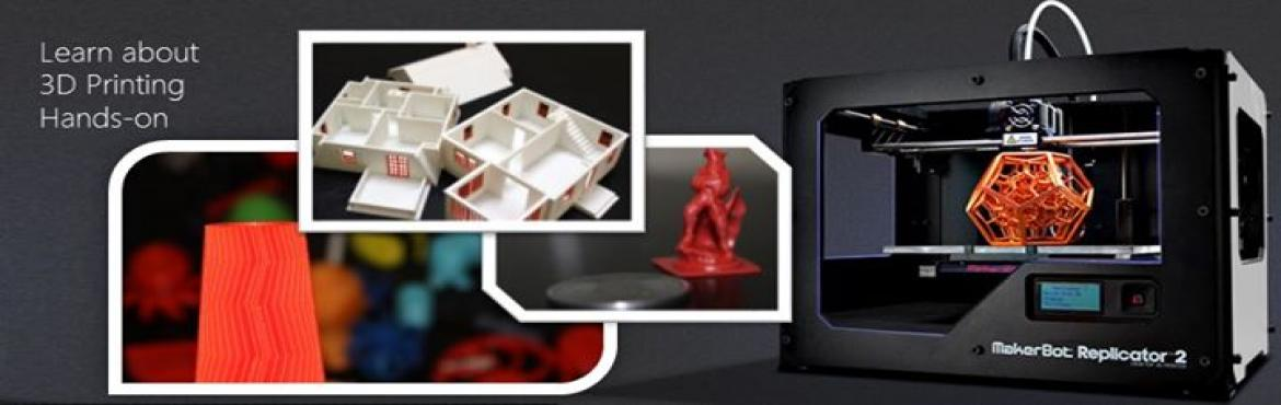 Book Online Tickets for 3D Printing Workshop, Mumbai. A comprehensive two day workshop which highlights the key features of 3D printing and designing and introduces you to a Trillion Dollar Industry - which is used across industries, penetrating engineering, medicine, IT – even cooking! 3-D
