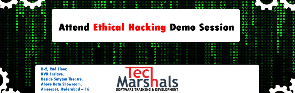 Book Online Tickets for Ethical Hacking Classroom Training In Hy, Hyderabad. Ethical Hacking Classroom Training In Hyderabad A Certified Emarshals Ethical Hacker is a skilled professional who understands and knows how to look for weaknesses and vulnerabilities in target systems and uses the same knowledge and tools as a malic