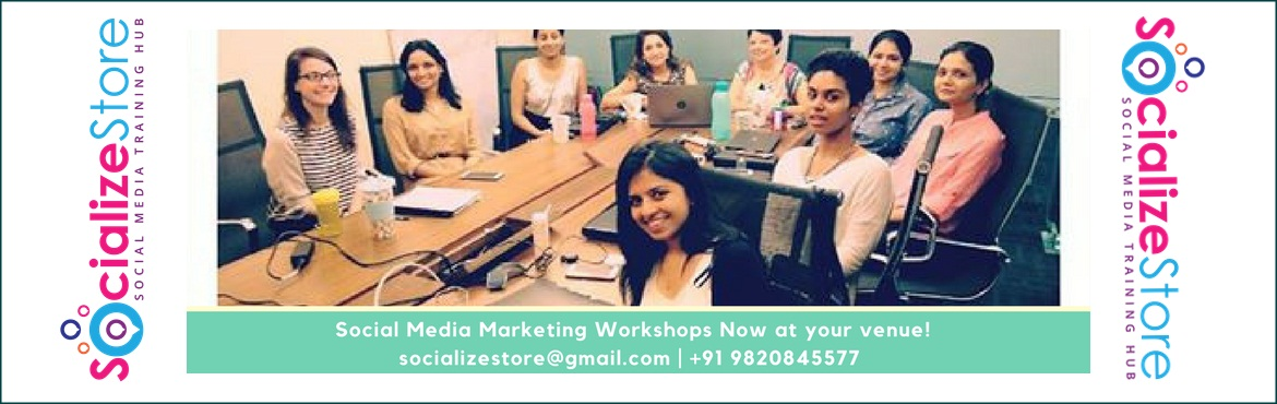 Book Online Tickets for Upcoming Social Media Marketing Workshop, Mumbai.  Become a Social Media Expert! Upcoming Social Media Marketing Workshop. Now on a Weekend. Now at Andheri Course Content: • Innovative weekly posts on various social media platforms like Facebook,Twitter, Linke