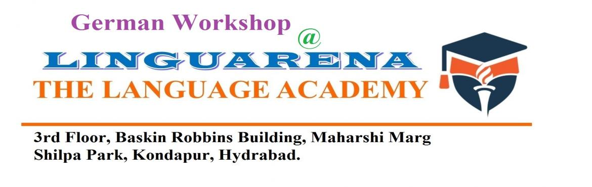 Book Online Tickets for 1 Day German Language Workshop - Basic I, Hyderabad. Training Course Code: LINGEA103 What will be covered:  * Alphabets  * Basic number  * General Speaking  *Scenario - landing in Germany for the first time Target Participant: Anybody within age group: 10 to 70