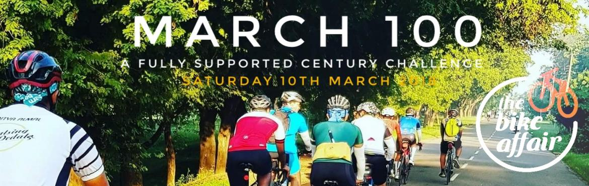 Book Online Tickets for March 100 Bicycle Ride, Hyderabad. After last week\'s 60 km warm up ride, we at The Bike Affair are now ready for this months century challenge, a fully supported bicycle ride. Ride at your own pace, while we take care of the technical support and your hydration needs. The ride ends w