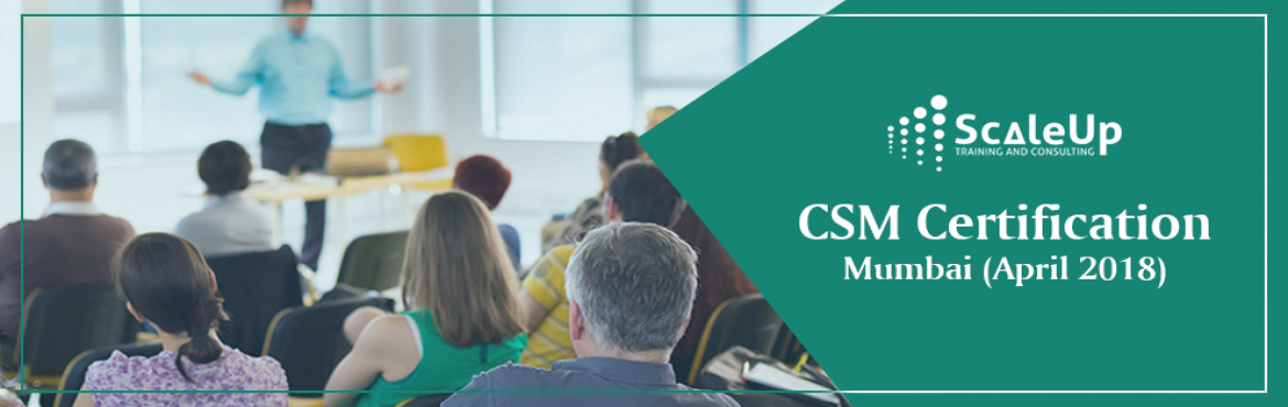Book Online Tickets for CSM Certification, Mumbai (April 2018), Mumbai.  ACertified ScrumMaster®is well equipped to use Scrum, an agile methodology to any project to ensure its success. Scrum's iterative approach and ability to respond to change, makes the Scrum practice best suited for projec