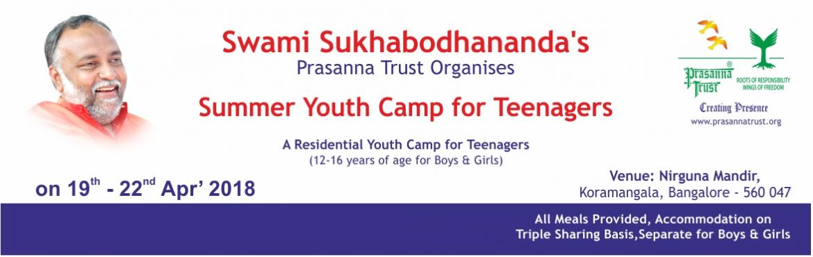 Book Online Tickets for Summer Youth Camp, Bengaluru. Some of the most formative years of a person's life are between the ages of 12 to 25 years. Negative peer pressure, exam pressure, emotional turmoil from life-changing events, among many other challenges, makes this a particularly difficult per