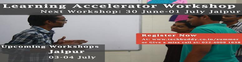 Learning Accelerator Workshop Jaipur 30 June