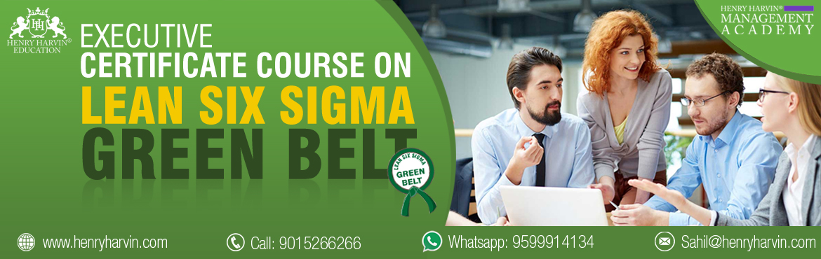 Book Online Tickets for Lean Six Sigma Green Belt Course by Henr, New Delhi. Henry Harvin Education introduces 1-days/4-hours Live Online Training Session.  Based on this training, examination  is conducted,  basis which certificate is awarded. Post that, 6-months/12-hours Live-Online Action Oriented Sessi