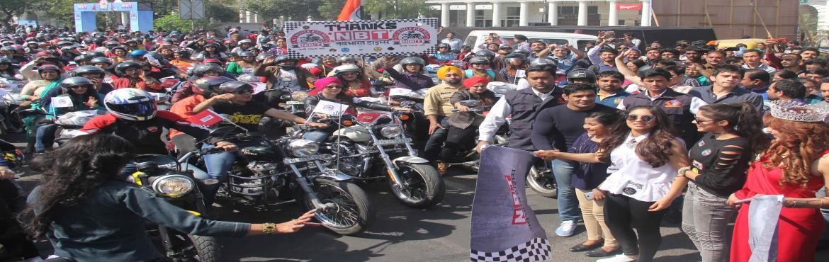 DLF Place hosts NBT All Women Bike Rally to celebrate Womens Day