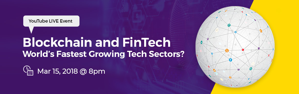 Book Online Tickets for Blockchain and FinTech: Fastest Growing , Hyderabad. Blockchain is disrupting the Financial Services industry. It offers the promise of transparency and efficiency like we have never witnessed before.   Industry is looking for experts in this field, and owing to the technology being new, available