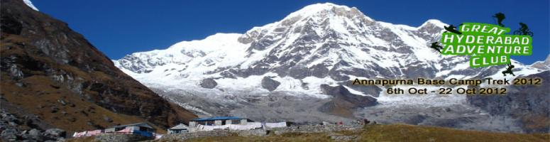 Book Online Tickets for Annapurna Base Camp and Hot Springs Trek, Hyderabad. Annapurna base camp trek is famous for trekkers. The principal peaks of the western portion of the great Annapurna Himal, including Hiunchuli, Annapurna South, Fang, Annapurna, Ganagapurna, Annapurna 3 and Machhapuchhare, are arranged almost precisel