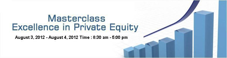 Masterclass: Excellence in Private Equity @ Hyderabad