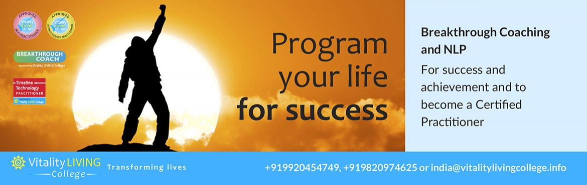 Book Online Tickets for Breakthrough Coaching with NLP with Dr R, Mumbai. Become a coach - Program your life for success Breakthrough Coaching with NLP Practitioner  13th – 19th November 2018 (Tues – Monday) 9am to 8pm  The Club, No 197, D.N. Nagar, Andheri West, Mumbai, India 400458  Fast track to su