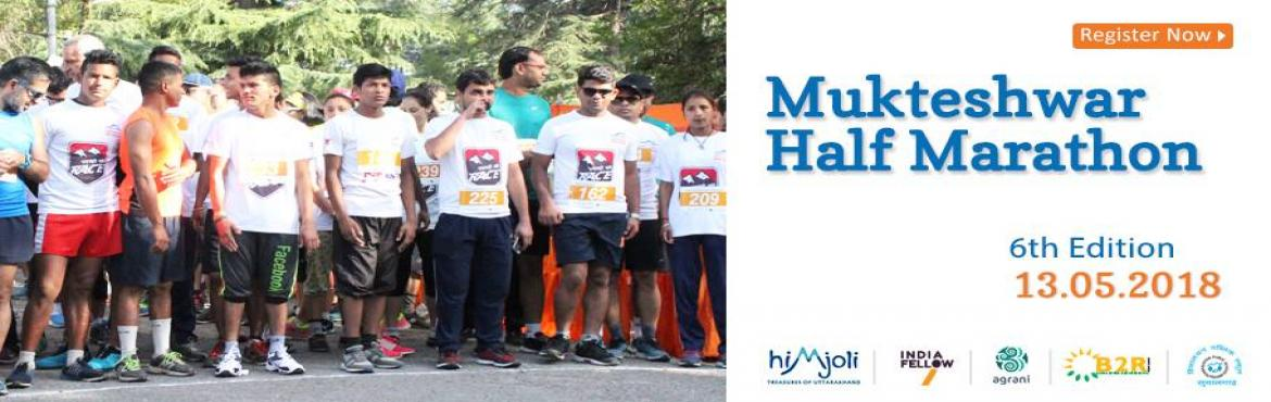 Book Online Tickets for Mukteshwar Half Marathon 6th Edition, 13, Mukteshwar. We\'re back with the 6th edition of one of India\'s toughest and most beautiful Half Marathon.  Join us at 7:30 am on 13th May 2018 as runners from across the country embark on a 21 KM journey through the pine covered forest roads of Mukteshwar