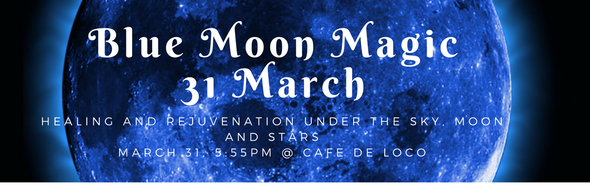 Book Online Tickets for Blue Moon Magic, Hyderabad. Blue Moon Magic under the open sky, moon and stars conducted by expert practitioner Ms. Niveditha Indrajit. 5:55pm onwards at Cafe de Loco Gachibowli. Participants are requested to reach 15 minutes before schedule time as doors will be closed when pr