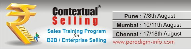 Contextual Selling-A Comprehensive 2-day Training for Sales Executives and Managers in b2b/industrial sales at Chennai