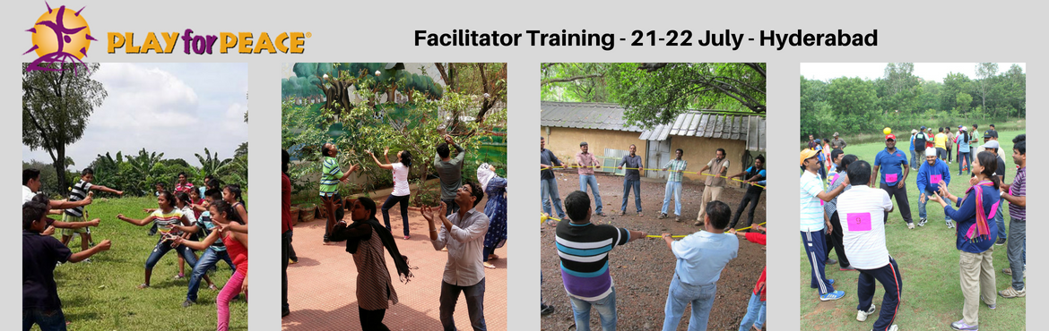 Book Online Tickets for Play for Peace Facilitator Training - Hy, Hyderabad.  Play for Peace Facilitator Training - Hyderabad -  21-22 July2018       Aim and Objective:        Learn to conduct Play Actvities to create inclusive experiences for any diverse groups to connect, bond, find common grounds, understand