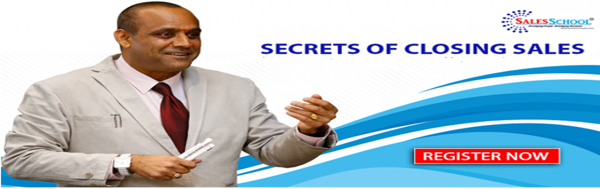 Book Online Tickets for Secrets Of Closing Sales, Bengaluru.  Secrets Of Closing Sales Workshop is designed by Mr. Amar Reddy, one of the top ten Sales Coach in India The objective of the training is to train on a set of tools & techniques to sell more. After attending this 1 Day Workshop you will abl