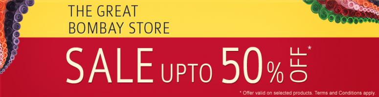 Book Online Tickets for The Great Bombay Store Sale!!!, Mumbai. The Great Bombay Store Sale has finally arrived! Irresistible discounts Upto 50% across a wide range of products. Shop for Personal care, Home Décor, Artefacts, Office Stationery, Fashion Accessories and make the most of this opportunity.