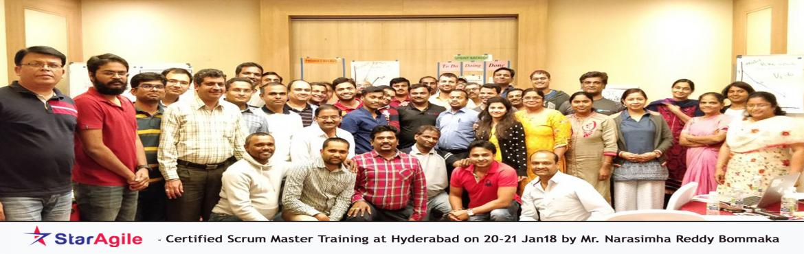 Book Online Tickets for Scrum Master Certification Training in H, Hyderabad. Scrum is undoubtedly a popular framework in Agile methodology. Successful delivery of a software product with the involvement of so many teams is not so easy and this is where scrum comes in to picture. To understand scrum framework in a better way,
