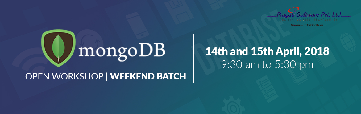 Book Online Tickets for MongoDB Open Workshop - Mumbai, Mumbai. We are happy to announce a two days \