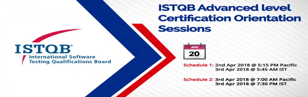Book Online Tickets for  ISTQB Advanced level Certification Trai, Hyderabad. Benefits & Course content of ISTQB Certification:- International recognition of acquired competencies and skills- Authorized to use the \