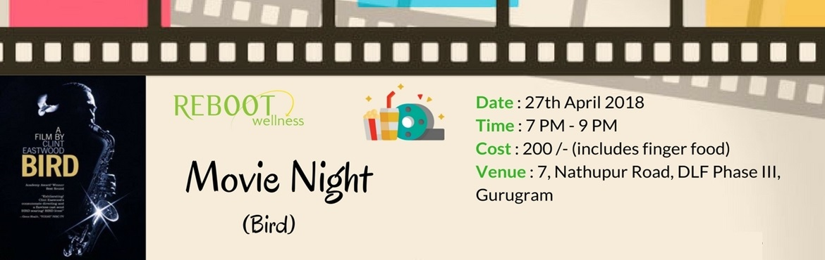 Book Online Tickets for Movie Night : Bird, Gurugram.  Movie Night : Bird   About the movie     Biopic of the famed saxophone player, Charlie Parker. Addicted to drugs from a young age, Parker suffered the corresponding highs and lows. Supported by his loving wife Chan, who resisted attem