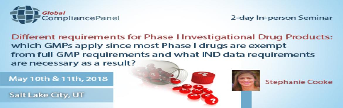 Book Online Tickets for    Phase I Investigational Drug Products, Salt Lake .         Course \