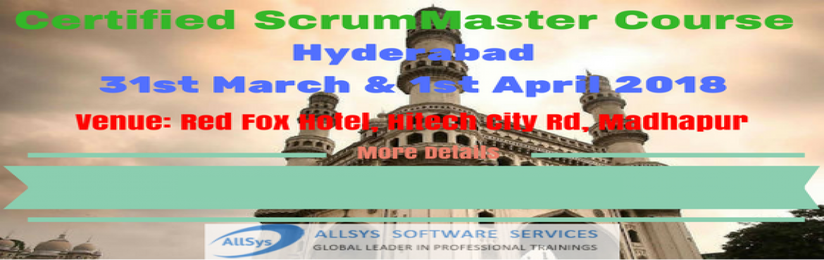Book Online Tickets for Scrum Master Training and Certification , Hyderabad. Greetings from AllSys! Looking for CSM Training course? Our Certified Scrum Master certification course provides massive knowledge for your career growth and helps with better opportunity! About Course: In our interactive and hands on Scrum Master Ce