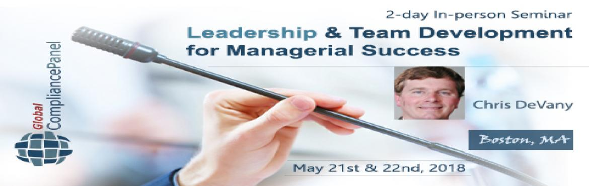Book Online Tickets for    Managerial Success Practices 2018 | M, Revere.     Overview:    Inspire and influence your team members to achieve your goals as a team!   Managers who will be promoted are the ones who not only manage efficiently but also lead their teams effectively. Learn how to work in a h
