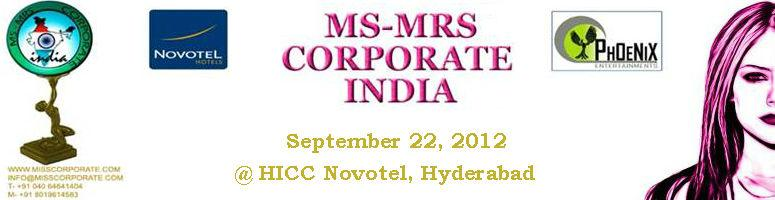 Ms-Mrs Corporate India @ Hyderabad