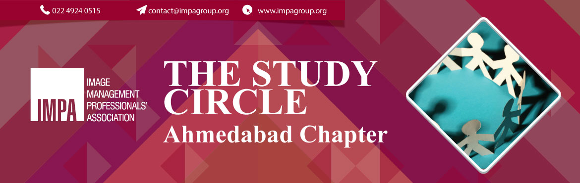 Book Online Tickets for Study Circle (Ahmedabad) - Importance an, Ahmedabad. About the expert We invite you to attend the first study circle organised by Ahmedabad Chapter  Topic:Importance & Use of Accessories   Discussion Topics: Study Round - 1. Accessories that can help you look slim - (men &am