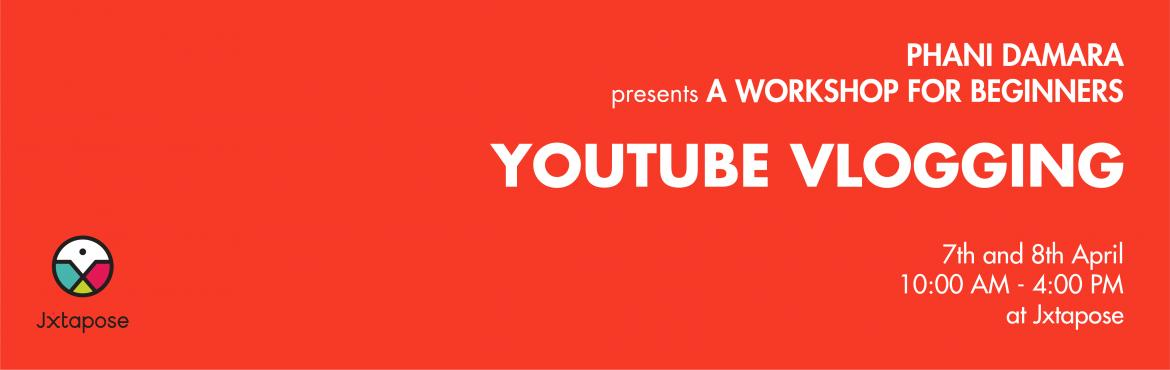 Book Online Tickets for YOUTUBE VLOGGING workshop by Phani Damar, Hyderabad. Everybody loves YouTube and has their own most-liked series but do any of you actually aspire to be like some of your favorite YouTubers? If you do, we have just the thing for you! A YouTube Vlogging Workshop that will cover everything you need to kn