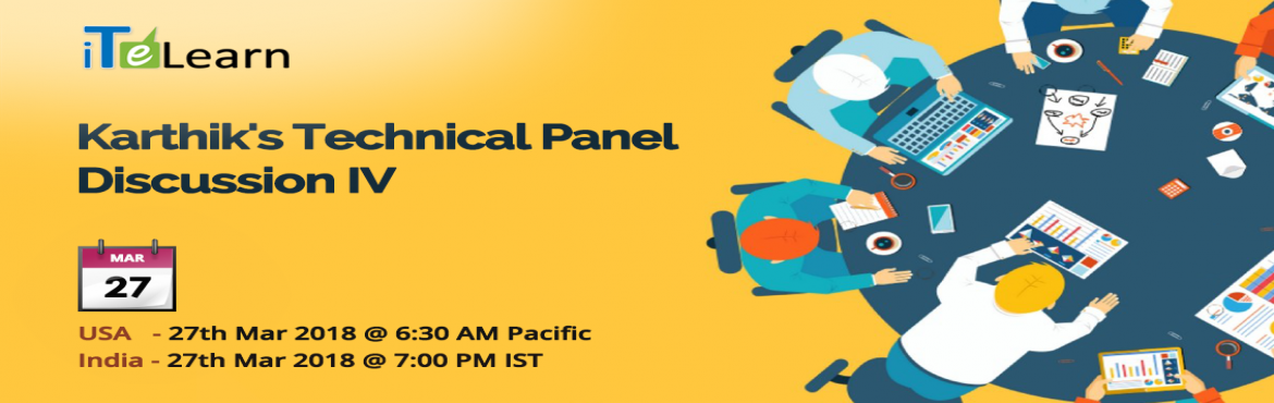 Book Online Tickets for Karthiks Technical Panel Discussion, Hyderabad. IT world is growing faster, wider and deeper. With trends asBI,AI,Machine_Learning,blockchainetc. we are gearing for aTECHNOLOGYpowered global playground.Let\'s join this technical panel discussion and know about&n