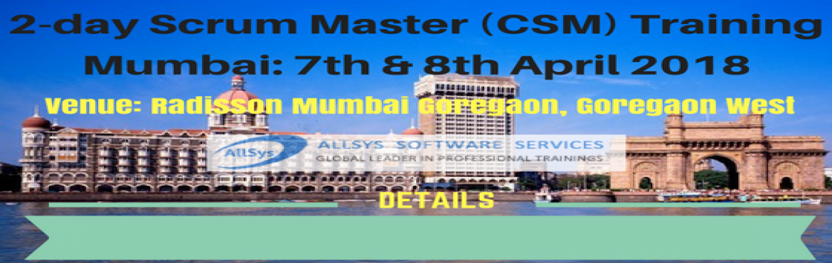 Book Online Tickets for Scrum Master Training - Mumbai , Mumbai. Greetings from AllSys!  Looking for CSM Training course? Our Certified Scrum Master Certification course in Mumbai provides massive knowledge for your career growth and helps with better opportunity!  About Course: In our interactive and hands on Scr