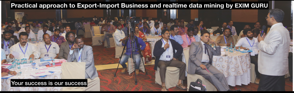 Book Online Tickets for EXPORT-IMPORT Business Training from 13-, Hyderabad. This Export Import Business training is aimed at Small and Medium companies who aspire to take their business to International markets. The workshop is conceived to help CEO /owner-managers / Senior executives of Indian companies who wish to develop