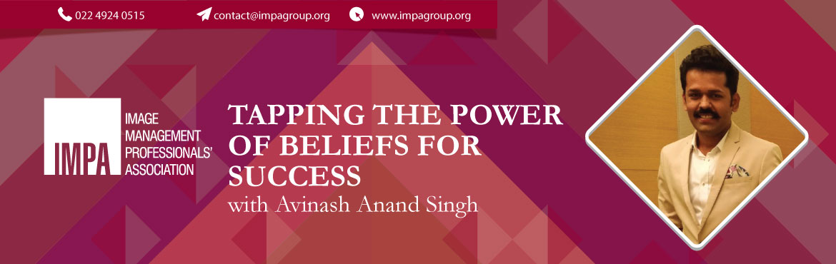 Book Online Tickets for Tapping the power of beliefs for success, Pune. About the expert  Avinash Anand Singh  Avinash is a Transformational Coach and a Trainer and works in the area of connecting science and spirituality with the mission of helping people connect to thier inner genius. He is a post graduate in lea