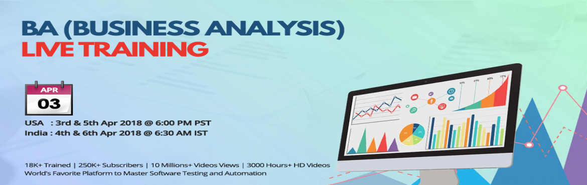 Book Online Tickets for  BA (Business Analysis) Live Training , Hyderabad.  BA Training Benefits  Advanced certificates in Business Analysis can position professionals to help their organizations gain the benefits of a data-driven strategy.- Business Analyst makes over $78,000 per year! Then when hearing that th