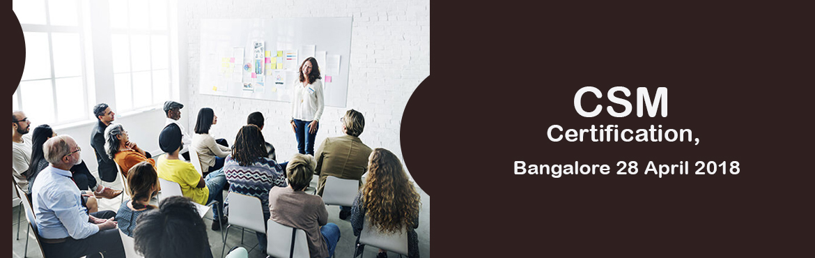 Book Online Tickets for CSM Certification, Bangalore 28 April 20, Bengaluru. ACertified ScrumMaster®is well equipped to use Scrum, an agile methodology to any project to ensure its success. Scrum's iterative approach and ability to respond to change, makes the Scrum practice best suited for projects with