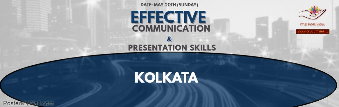 Book Online Tickets for Effective Communication Skills Workshop-, Kolkata. www.sujatamukherjee.com  A Power Packed Full Day Workshop on MAY 20TH at Hotel De Sovrani, Salt Lake   Workshop Details:  Some of us have a good command over the language but 'freeze' when we have to face an audience. Some of us