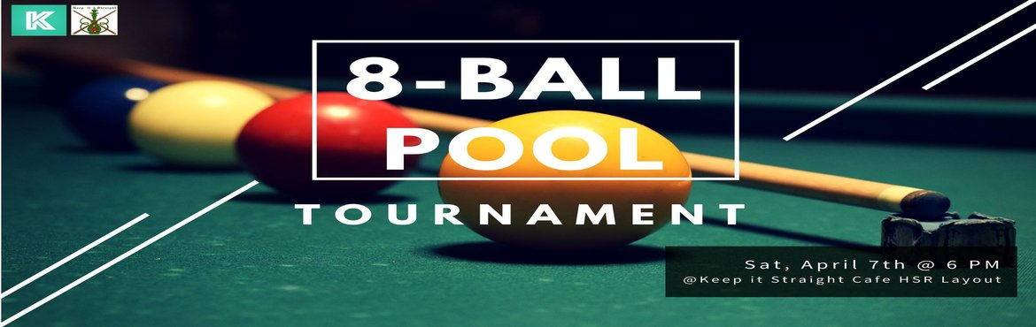 Book Online Tickets for Pool Tournament April Edition, Bengaluru. We are back with the April edition of POOL Tournament!!Are you game to make your mark in the Pool Universe? You've come to the right place. No matter what your skill is, we welcome everyone in this tournament. Are you an ace in making or think