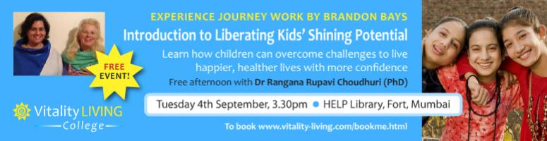 FREE EVENT - How to work with children and teenagers to relealise their full potential Mumbai Sept 4th