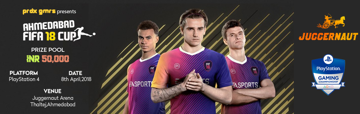 Book Online Tickets for Ahmedabad FIFA 18 Cup, Ahmedabad. Paradox Gamers,Sony PlayStation India and Juggernaut Arena are back to serve faithful gamers. Here\'s a another chance to win prizes worth INR 50000 in the most exciting and loved tournament of the city!!!Regular/On the spot tickets prices:Solo : INR