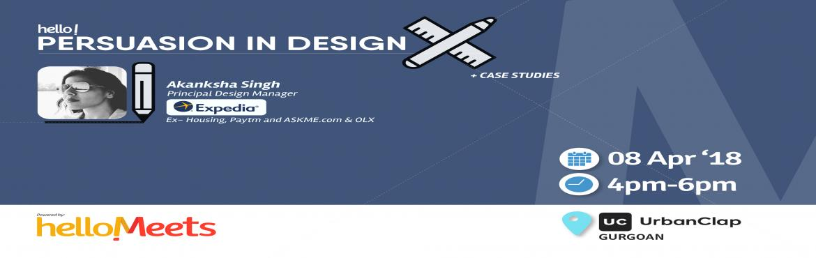 Book Online Tickets for Product Design Workshop w/ Expedia, Gurugram.        About the Speaker: Akanksha Singh, Principal Design Manager at Expedia  An Alumni of IIT Kanpur, Akanksha has previously worked as DGM Design at Paytm, Sr. Interaction Designer at askme.com, UX Desig Manager at housing.com, Product M