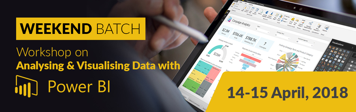 Book Online Tickets for  Analysing and Visualizing Data with Pow, Mumbai. Power BI, a powerful cloud-based service that helps data business analytics tools visualize and share insights from their data. It is quickly gaining popularity among professionals in business analytics as a cloud-based service that helps them e