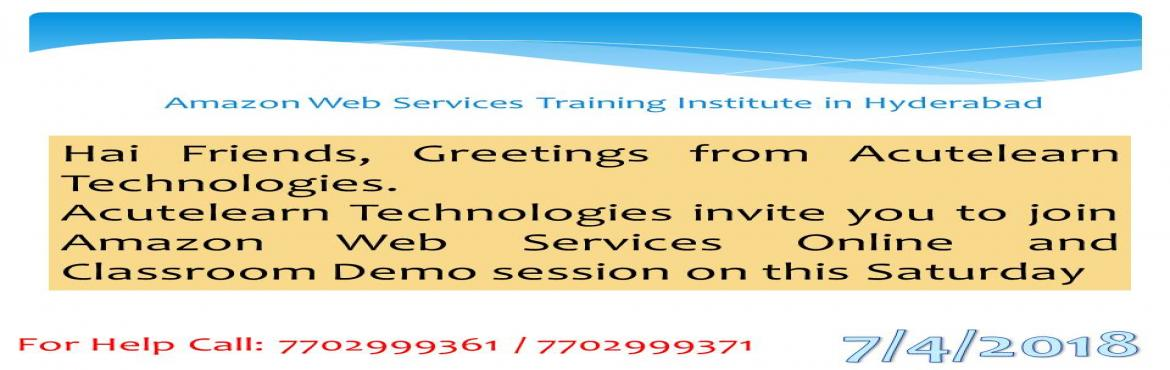 Book Online Tickets for AWS Training Institute in Hyderabad, Hyderabad.