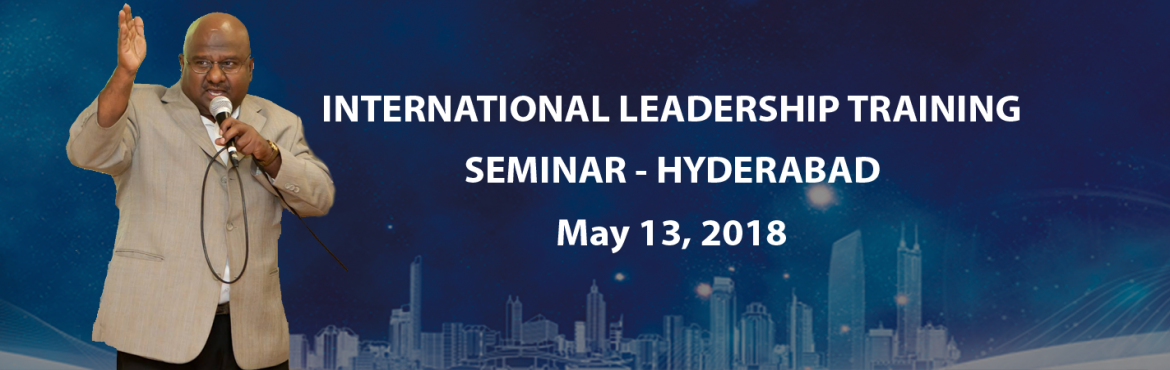 Book Online Tickets for International Leadership Training , Hyderabad. Join David for a 1-day life-changing experience and explore your leadership potential & success! We are delighted to invite all of you to attend the International Leadership Training Seminar! Our professional training course brings national and i