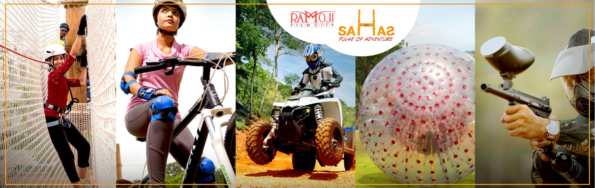 Book Online Tickets for SAHAS ADVENTURE EXPERIENCE APRIL 2018, Hyderabad.        Sahas Activities:-  High Rope Course (Level 1&2) Net Course Reverse Bungee Ejection Paint Ball Target Shooting Big Zip Line Compound Archery 1 Round MTB/Cycling Melt Down Sand Volley Ball  Package Inclusive:  Souvenir Cho