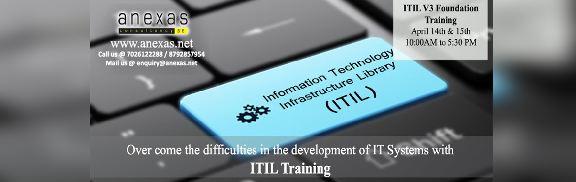 Book Online Tickets for ITIL V3 Foundation Training in Bangalore, Bengaluru. TheITIL certification scheme provides a modular approach to the ITIL framework and is comprised of a series of qualifications focused on different aspects of ITIL best practice to various degrees of depth and detail. The tiered structure of the